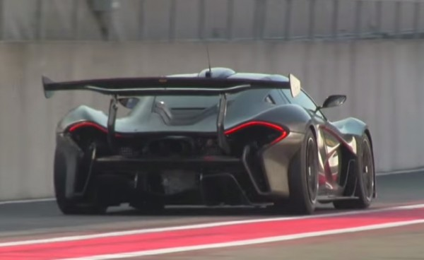 mclaren p1 gtr spa 600x368 at Poetry in Motion: McLaren P1 GTR at Spa