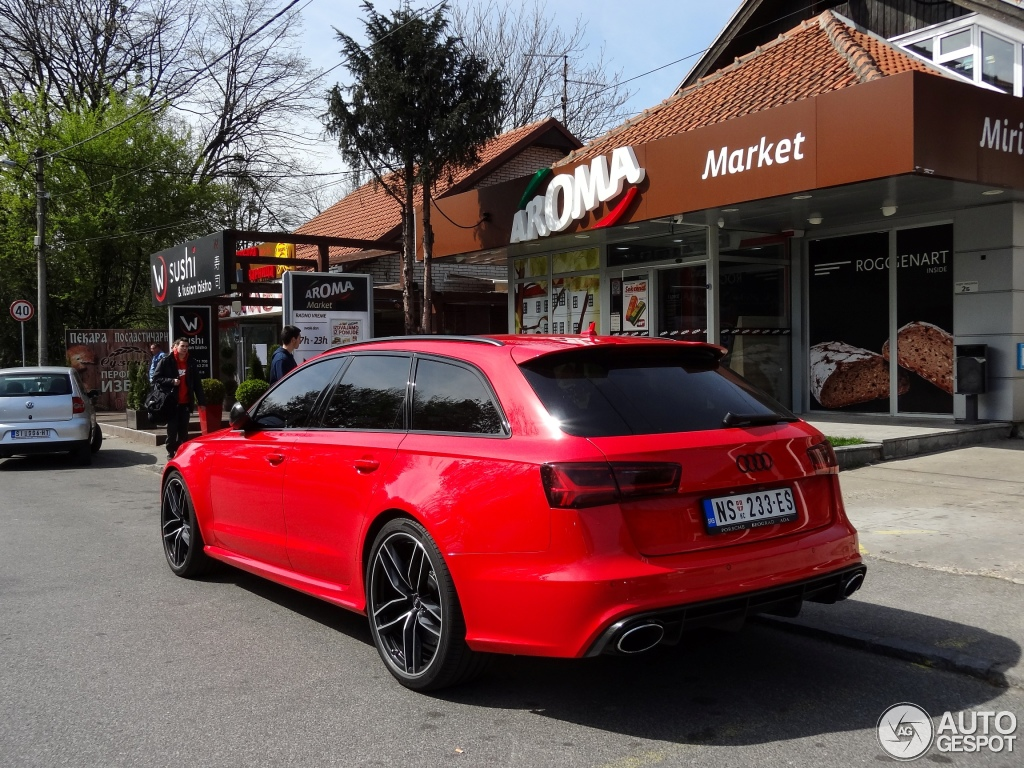 Spotlight Candy Red Audi Rs6 Avant