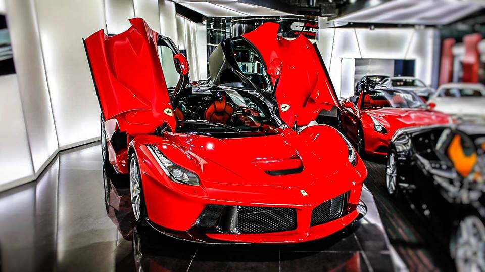 Dubai Exotic Car Dealership Has Two Different Laferraris: Gallery: Alain Class Shows Off Two LaFerraris