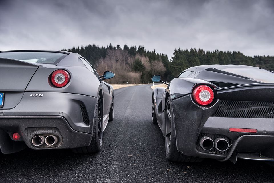Gallery Black LaFerrari Meets Grey 599 GTO