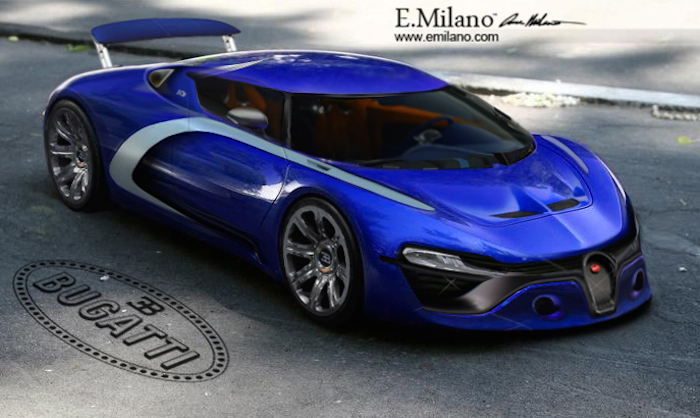 This is what bugatti chiron may look like for Design render milano
