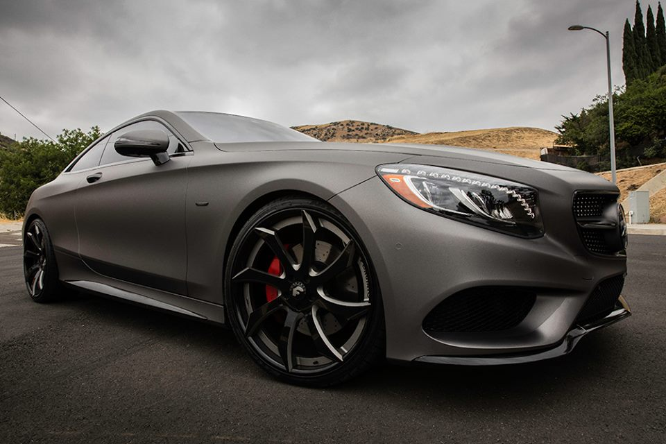 The Boss Matte Gunmetal Grey Mercedes S Coupe
