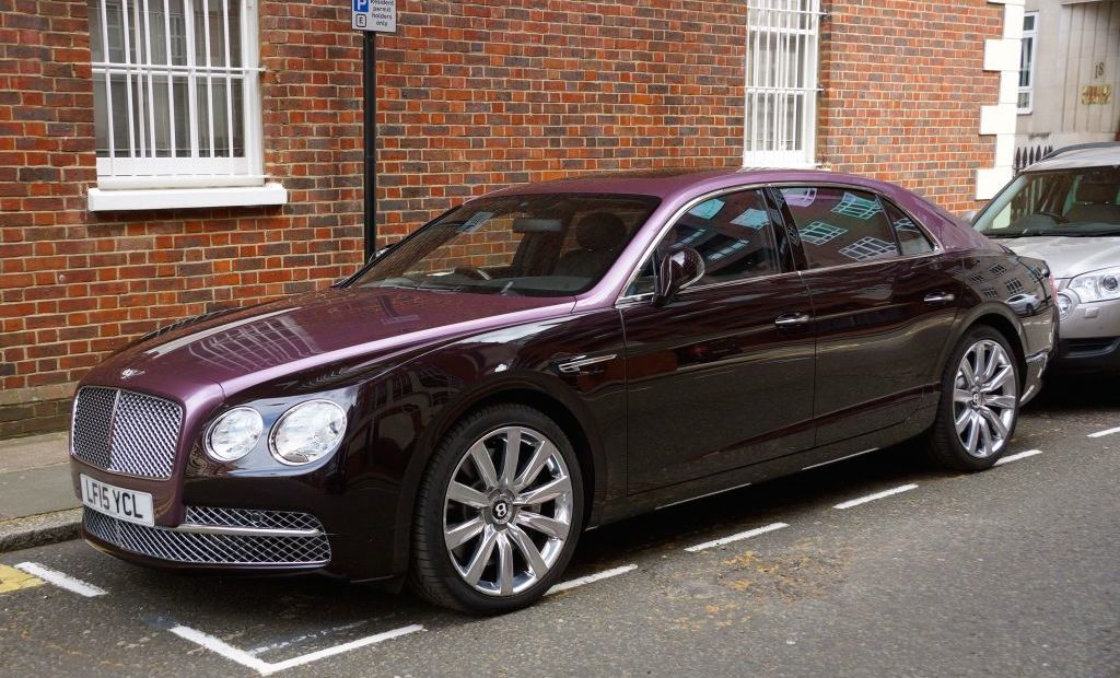 Two Tone Magenta Bentley Flying Spur Spotted In London