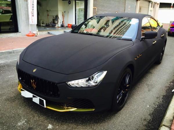Maserati Ghibli Matte Black Suede-0