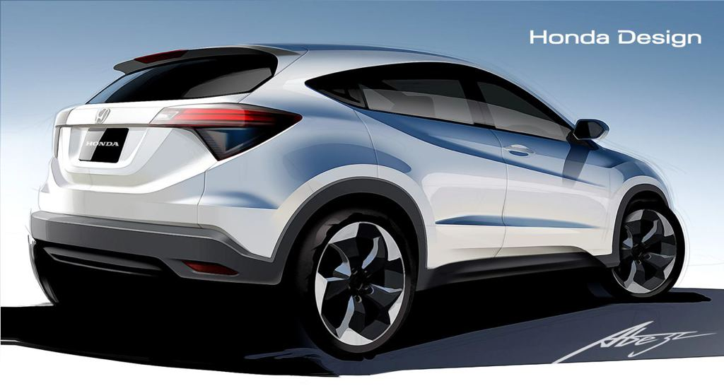 new honda hr v previewed in official drawings. Black Bedroom Furniture Sets. Home Design Ideas