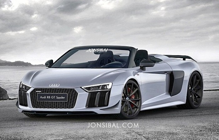 next audi r8 gt spyder rendered way ahead of time. Black Bedroom Furniture Sets. Home Design Ideas