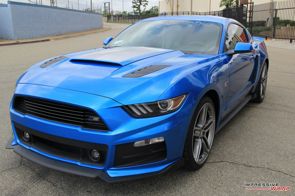 magnificent roush mustang rs2 in gloss metallic blue. Black Bedroom Furniture Sets. Home Design Ideas