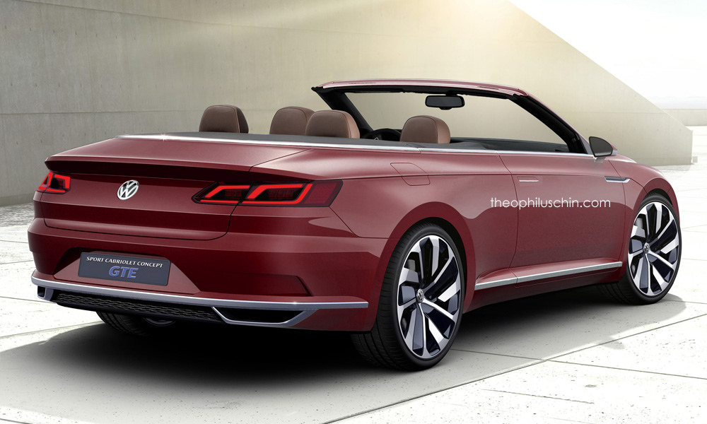 vw sport gte cabriolet rendered as possible eos replacement. Black Bedroom Furniture Sets. Home Design Ideas