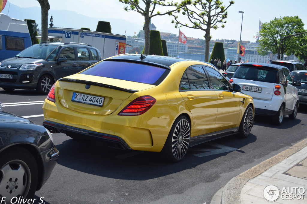 Yellow Mansory Mercedes S Class Spotted In The Wild