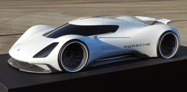 Rendering: 2035 Porsche LMP1 Race Car on