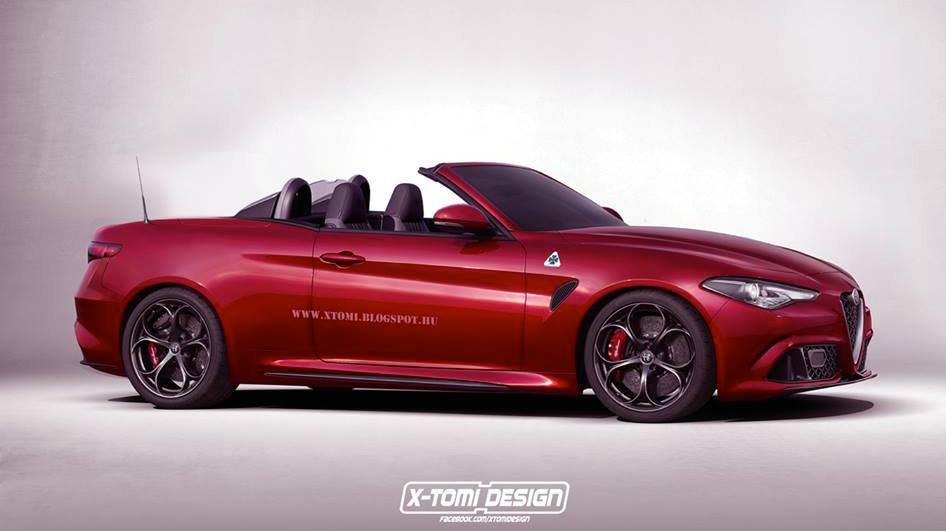 Renderings: Alfa Romeo Giulia Coupe & Spider - Motorward