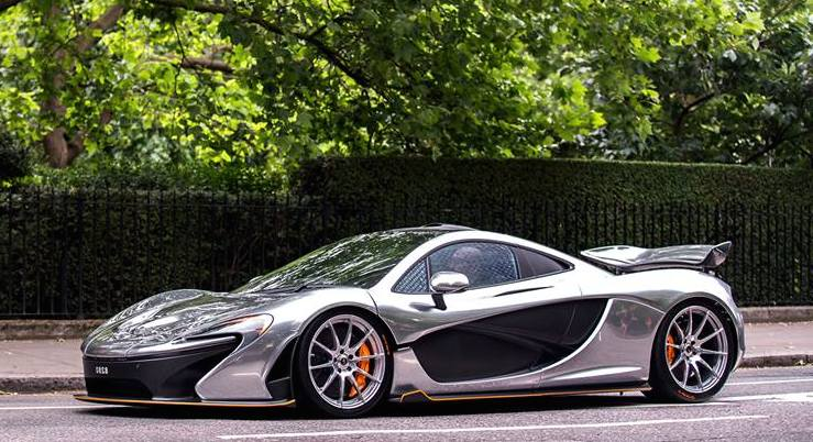 Meet The World S First Chrome Mclaren P1