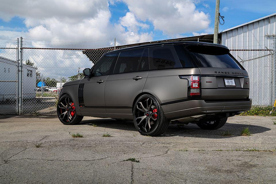 2018 Matte Black Range Rover >> Gallery: Matte Grey Range Rover on Forgiato Wheels