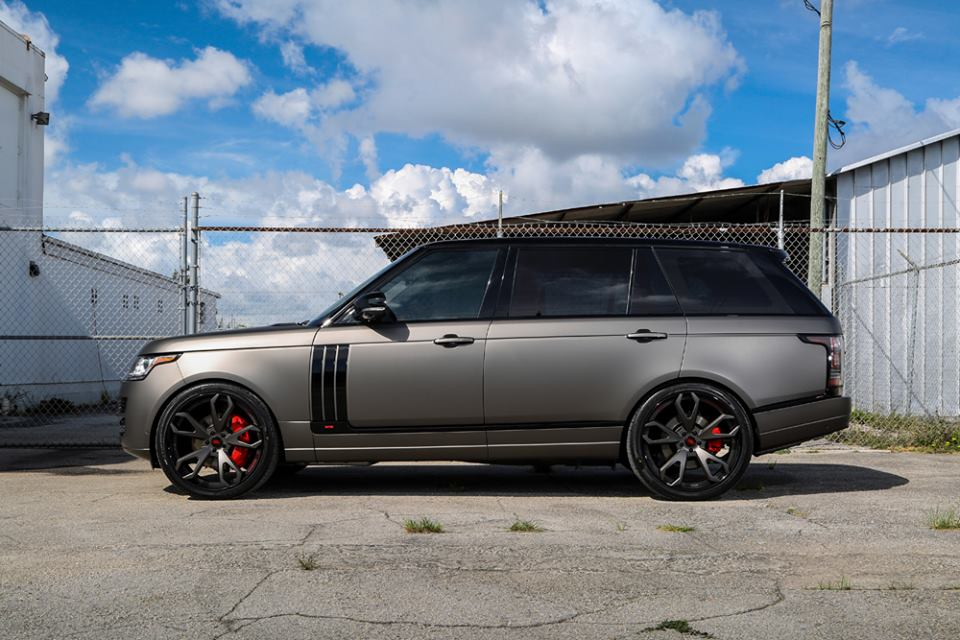 Range Rover Sport 2015 Matte Black >> Gallery: Matte Grey Range Rover on Forgiato Wheels