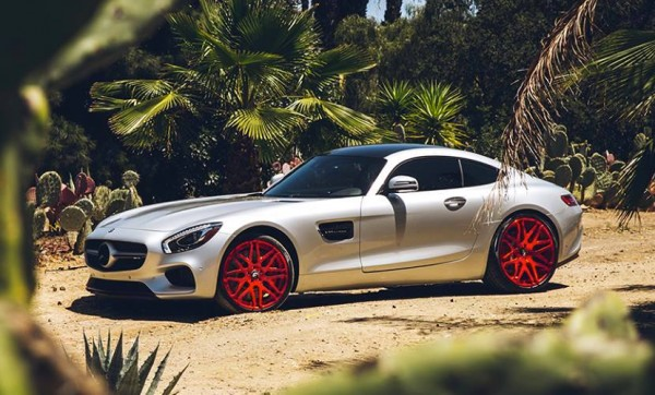 Mercedes AMG GT Red Wheels 0 600x362 at Dope or Nope? Mercedes AMG GT on Red Wheels