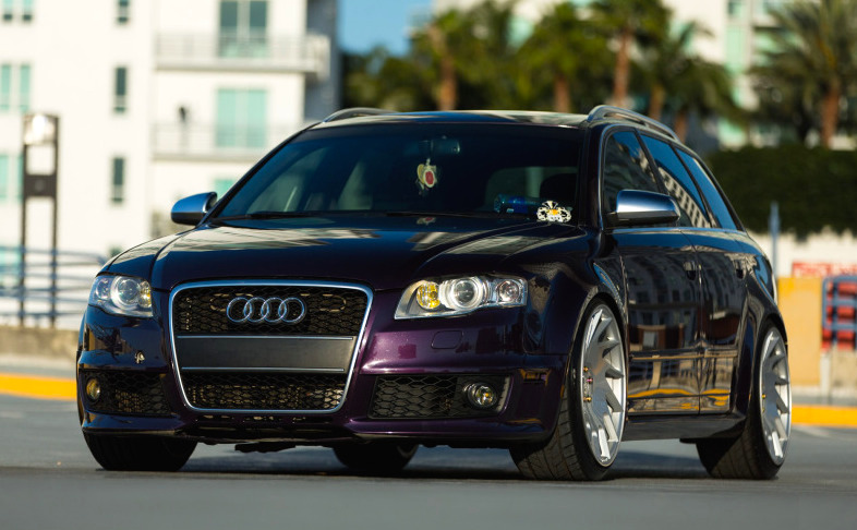 Gallery Merlin Purple Audi Rs4 On Vossen Wheels