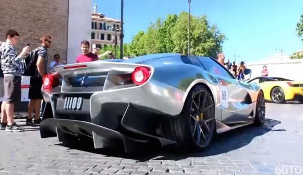 Silver Ferrari F12 TRS 600x348 at Silver Ferrari F12 TRS Caught on Film