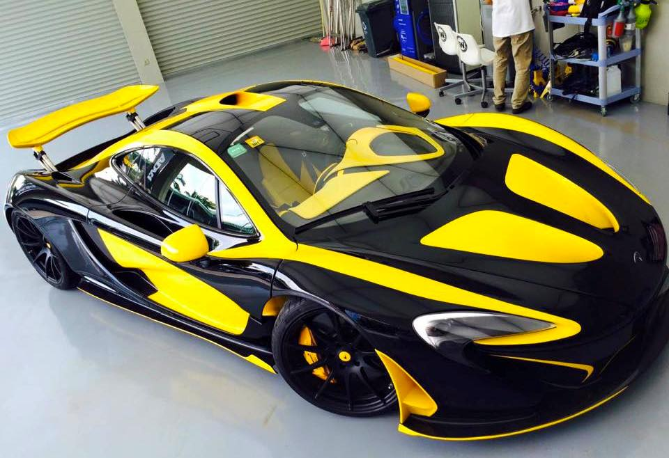 Two Tone Mclaren P1 By Impressive Wrap Canton