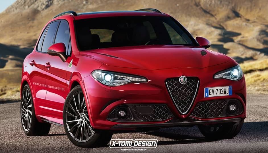 alfa romeo suv rendered based on giulia. Black Bedroom Furniture Sets. Home Design Ideas