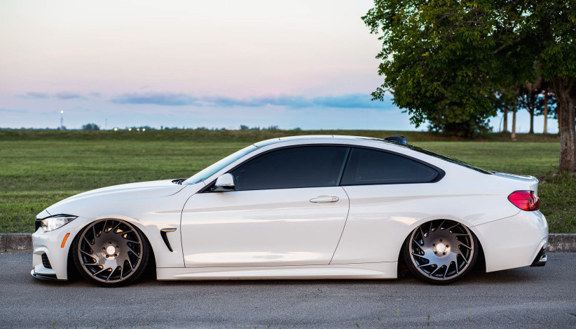 Bmw 4 Series Responds Well To Getting Bagged