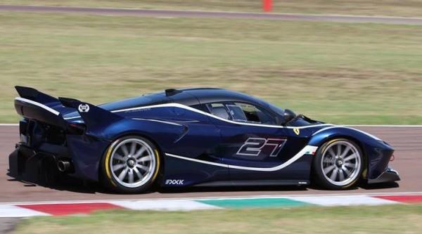 Blue Ferrari FXX K-0
