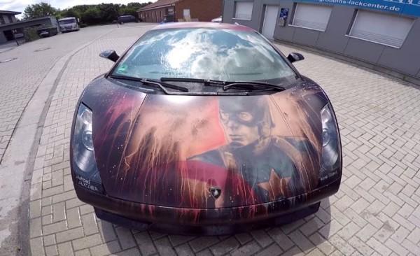 Captain America Lamborghini Gallardo-1
