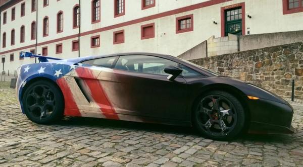 Captain America Lamborghini Gallardo-2