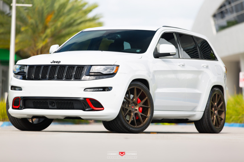tricked out jeep srt8 on vossen wheels. Black Bedroom Furniture Sets. Home Design Ideas