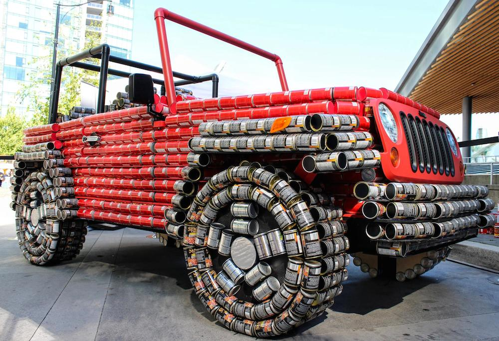 Jeep Wrangler Canstruction Is An Homage To Canda