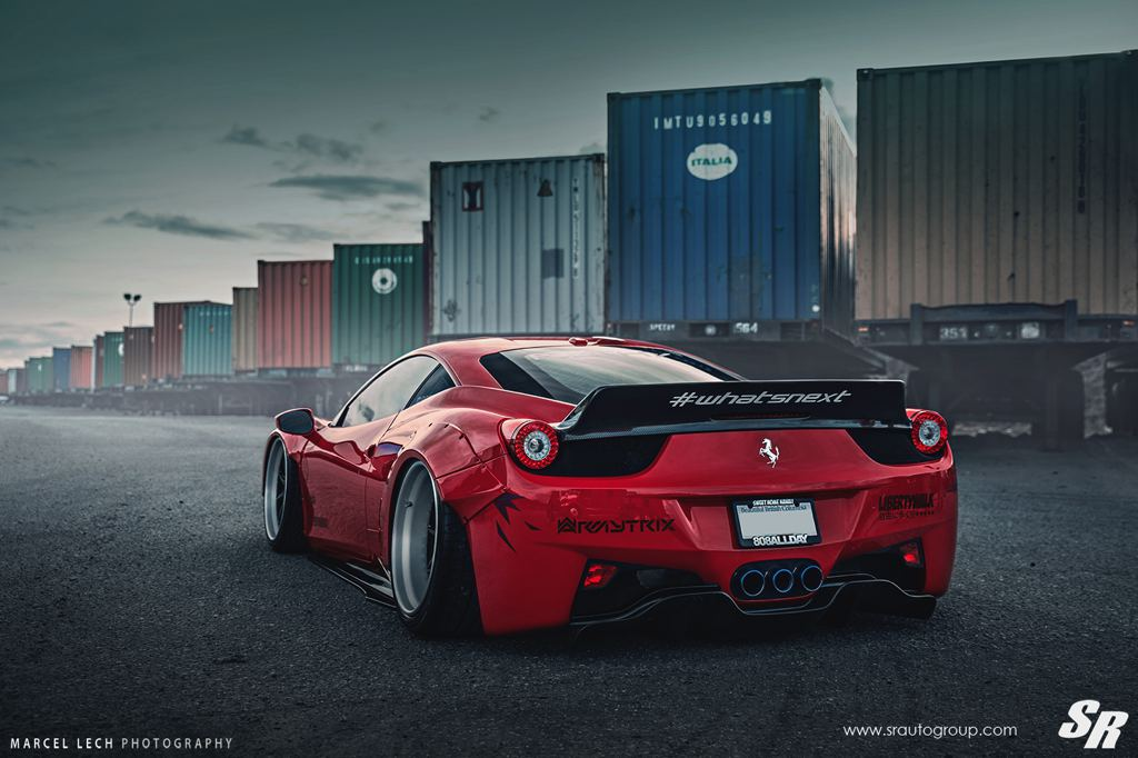 liberty walk ferrari 458 f7lthy by sr auto. Black Bedroom Furniture Sets. Home Design Ideas