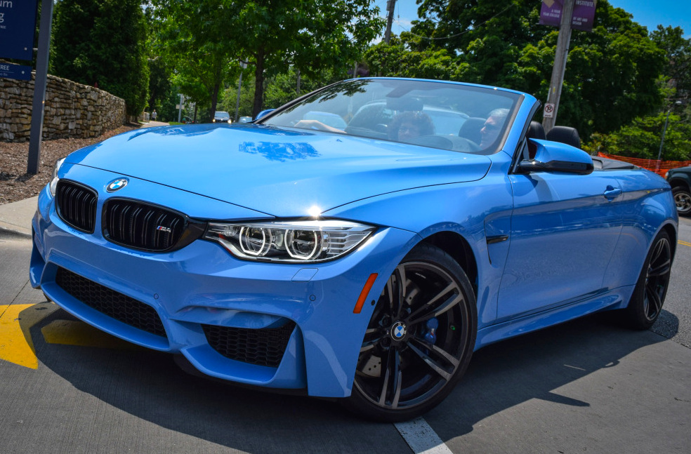 blue convertible bmw m4 - photo #4