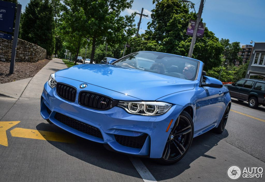 blue convertible bmw m4 - photo #2
