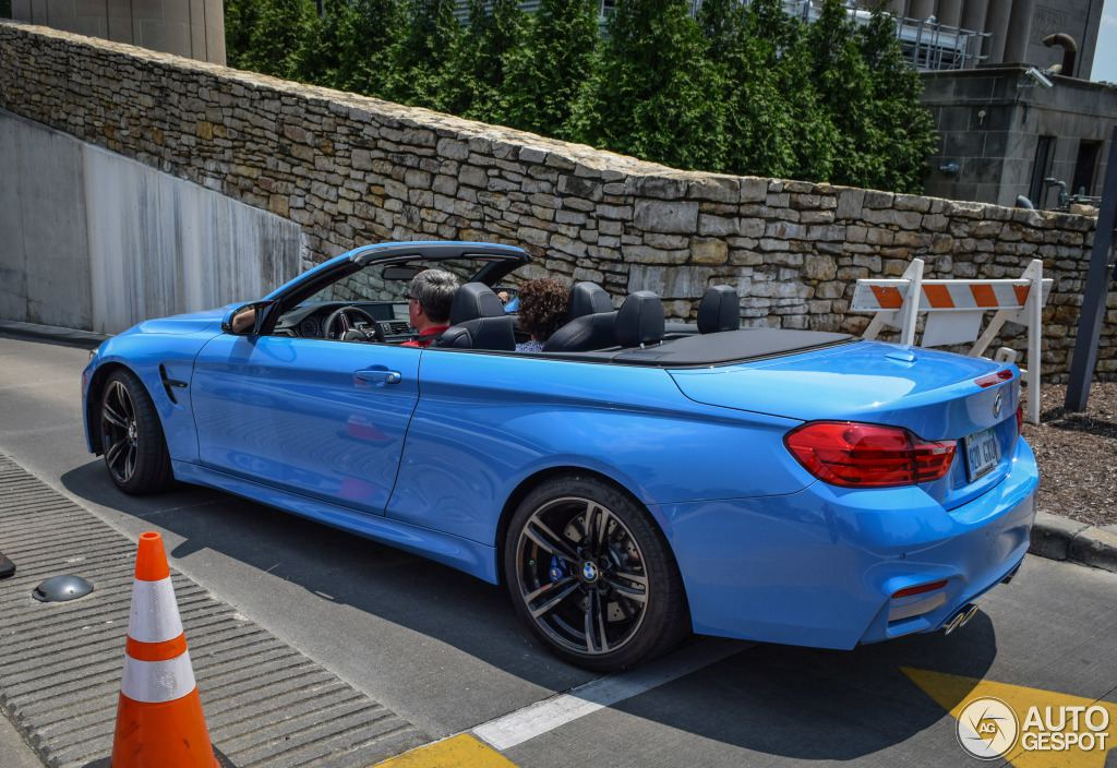 blue convertible bmw m4 - photo #5