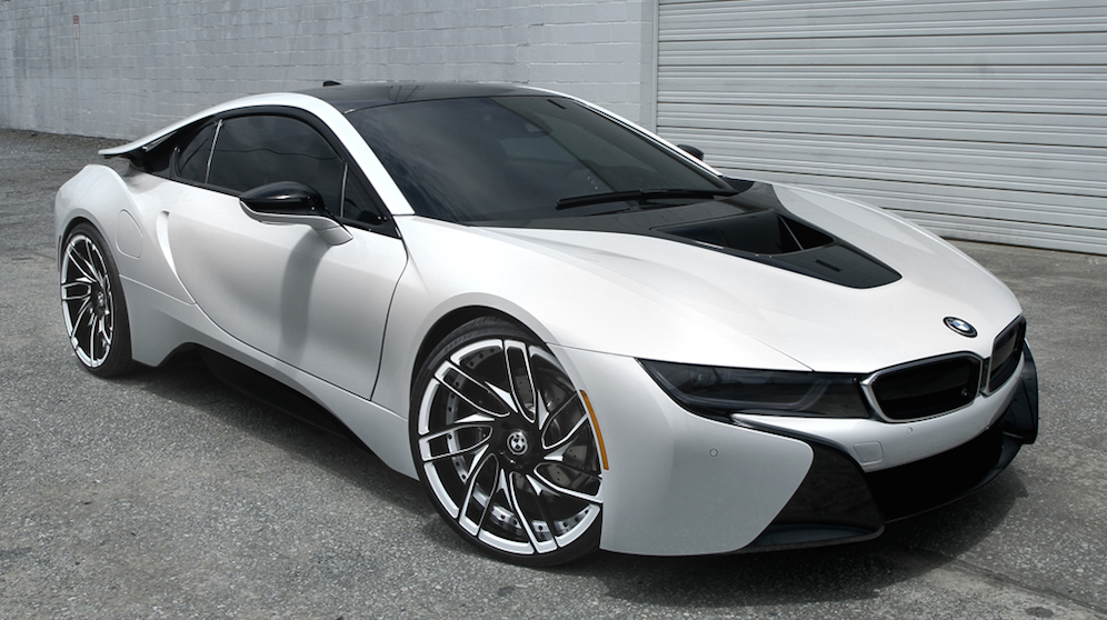 Gallery Matte White Bmw I8 On Savini Wheels