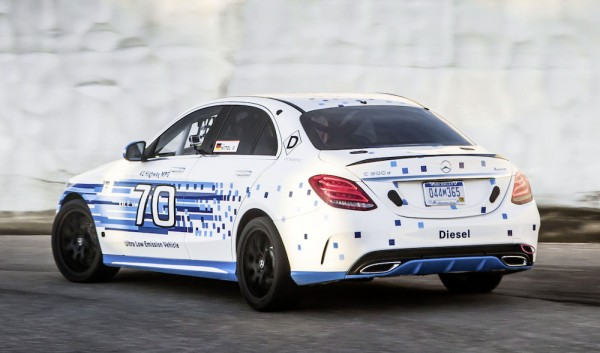 Mercedes C30 Pikes Peak 1 600x353 at Mercedes C300 d Sets New Pikes Peak Record for Diesels