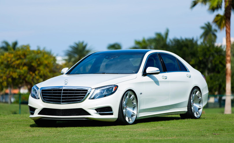 Renntech mercedes s550 looks majestic on vossen wheels for Mercedes benz s550 rims for sale