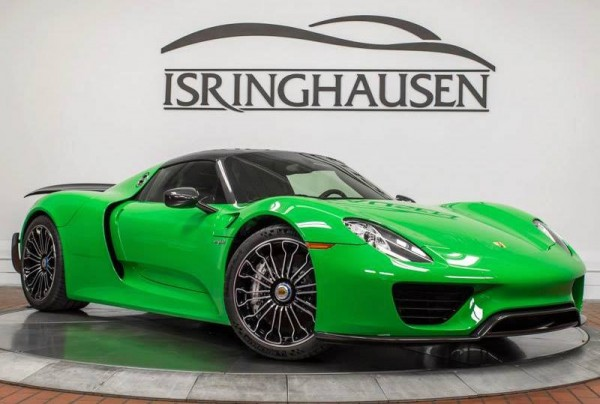 Signal Green Porsche 918 Weissach-0