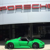 Signal Green Porsche 918 Weissach-6