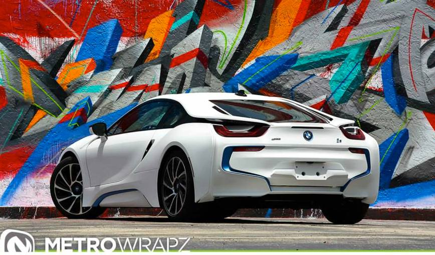 All White Bmw I8 0 600x352 At Matte BMW By Metro Wrapz
