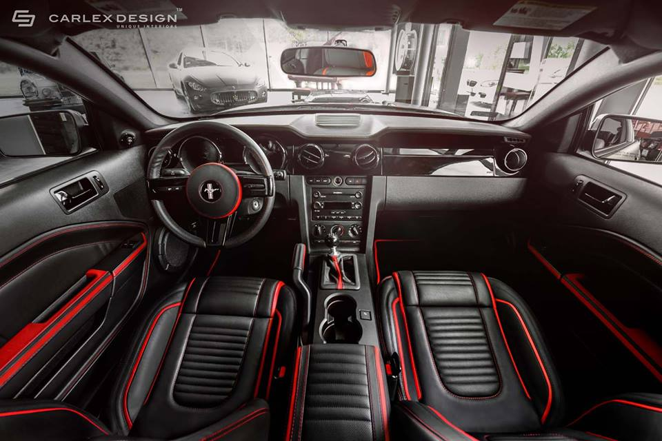 Carlex design ford mustang interior revealed for Ford mustang 2015 interior