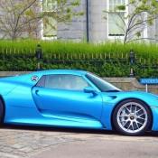 Cerulean Blue Porsche 918-2