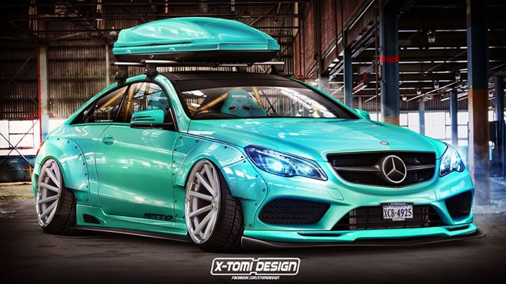 Virtual Tuning: Liberty Walk Mercedes E-Coupe