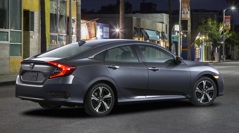 official 2016 honda civic sedan touring
