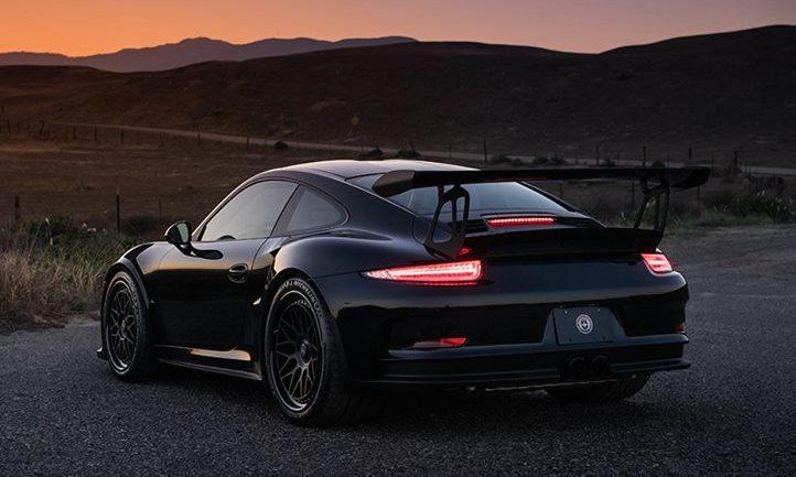 Black Porsche 991 Gt3 Rs On Hre Wheels