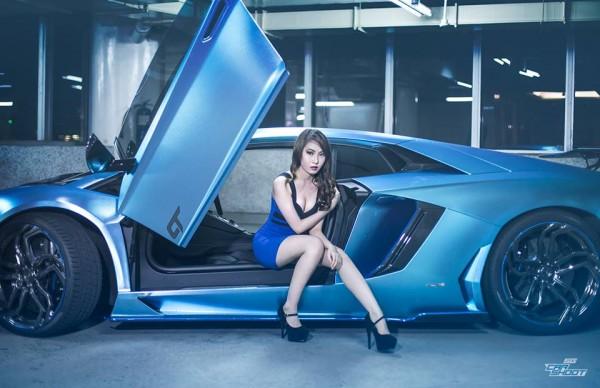 Custom Blue Aventador-0