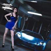Custom Blue Aventador-11