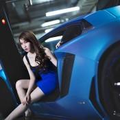 Custom Blue Aventador-3