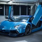 Custom Blue Aventador-4