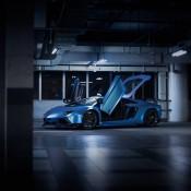 Custom Blue Aventador-9