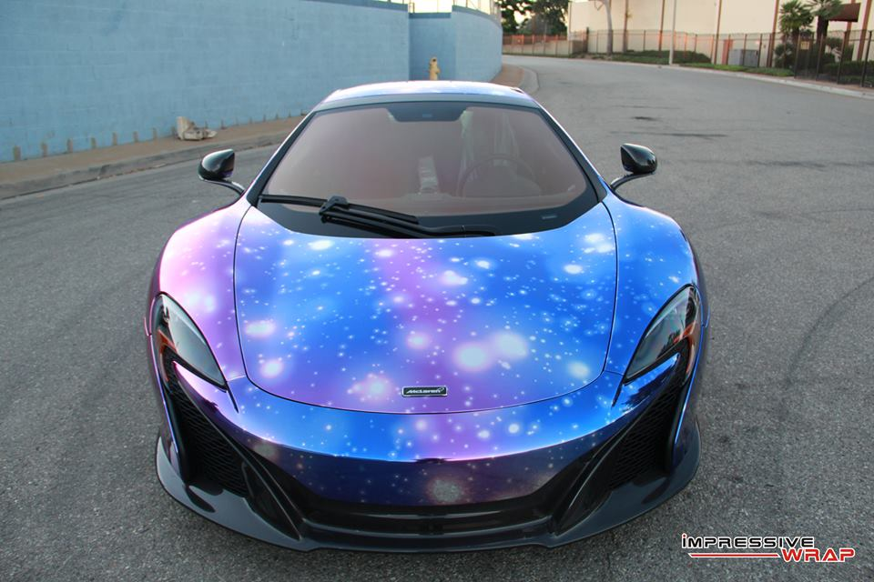 Gallery Mclaren 650s With Galaxy Wrap